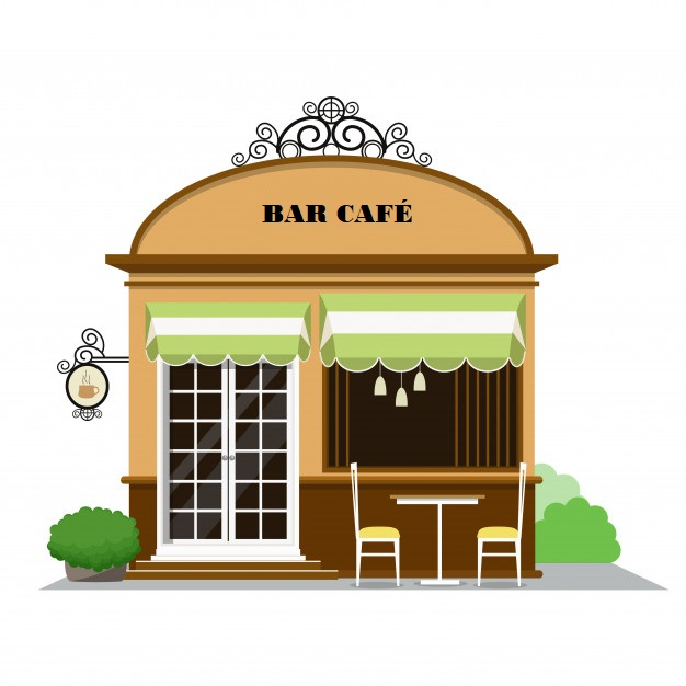 cafe restaurant facade icone boutique dans style plat 2963 235
